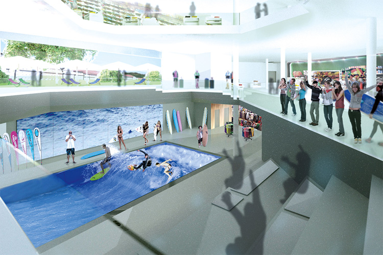 L&T: a German shopping mall equipped with the Citiwave pool | Photo: