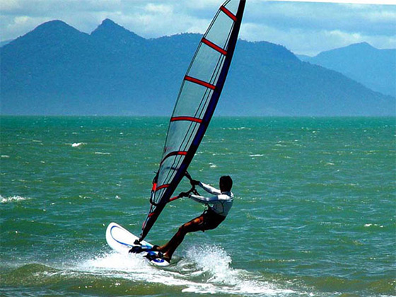 Manguinhos: perfect for windsurfing