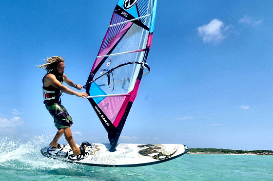 Manu Canepa: he will be playing the windsurf poker game