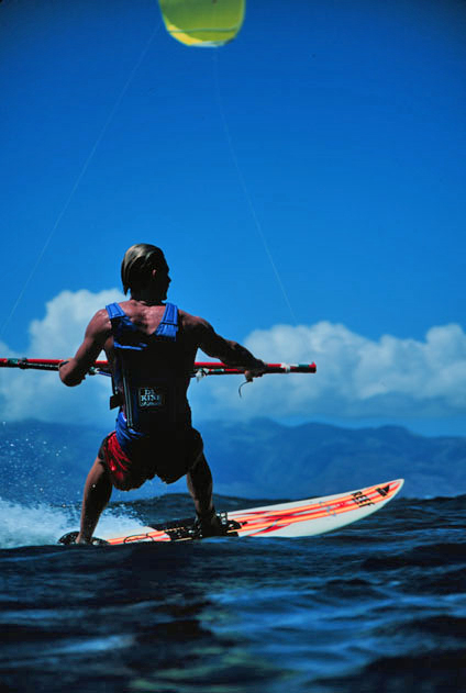 Marcus 'Flash' Austin: the winner of the first kitesurfing contest held in 1998 | Photo: Legaignoux Archive