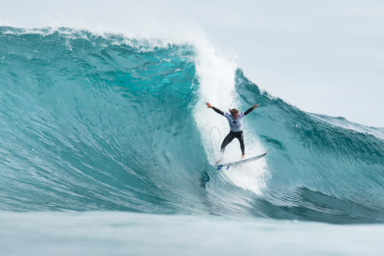 Drug Aware Margaret River Pro 2015: Christie's leap of faith | Photo: Cestari/WSL