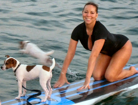 Mariah Carey: now, try to get up... in a wave.