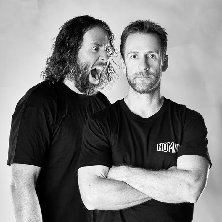 Mark and Shane Britten: the founders of Nomad Bodyboards: Photo: Nomad
