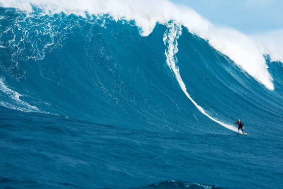 Is this big enough? Mark Mathews won last year's Oakley Surfing Life Big Wave Awards'