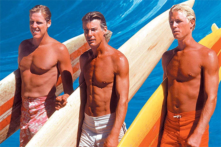 Matt Johnson (center): the star of 1978's surf movie 'Big Wednesday'