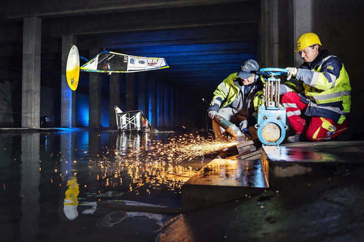Max Matissek: taking his True Wind series to the a Vienna underground water reservoir | Photo: Philipp Schuster/Red Bull