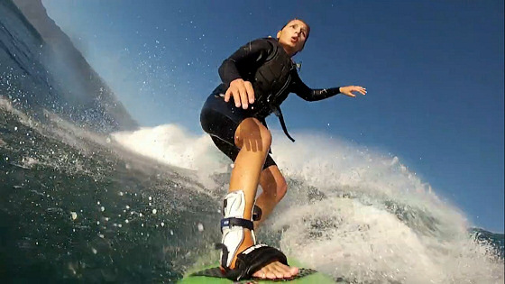 Maya Gabeira: big wave goofy-footer