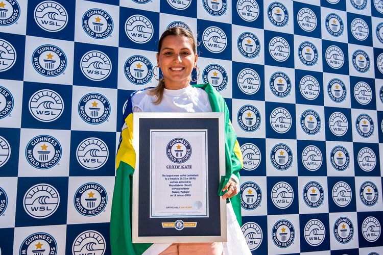 Maya Gabeira: she now holds the certificate for the largest wave ever surfed by a woman | Photo: Mestre/WSL
