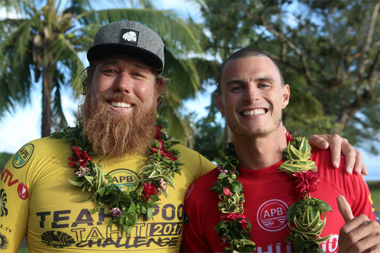 Garth McGregor and Jared Houston: the finalists of the 2017 Teahupoo Tahiti Challenge | Photo: APB