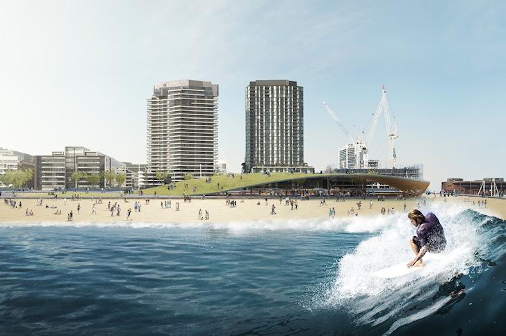 Melbourne: 1.5-meter waves in the Docklands heart | Photo: Damian Rogers
