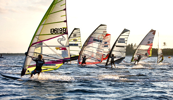 Miami Slalom Series: sailing till sunset