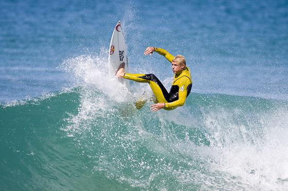 Mick Fanning free surfs during the Red Bull Junior Surf Masters Trials