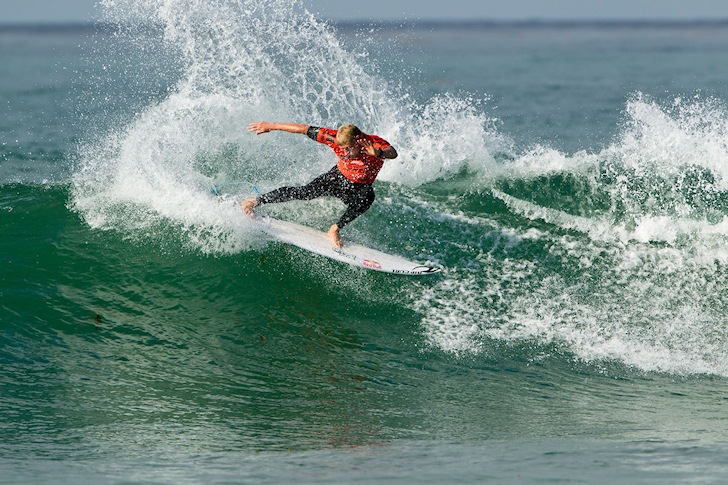 Mick Fanning: applying his brakes at Lowers | Photo: ASP/Kirstin