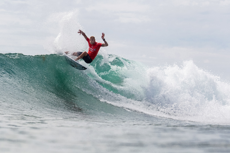 Mick Fanning: fired up | Photo: Kirstin/WSL