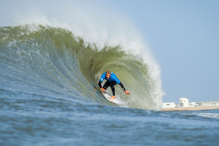 Mick Fanning: pitted at Supertubos | Photo: Poullenot/ASP