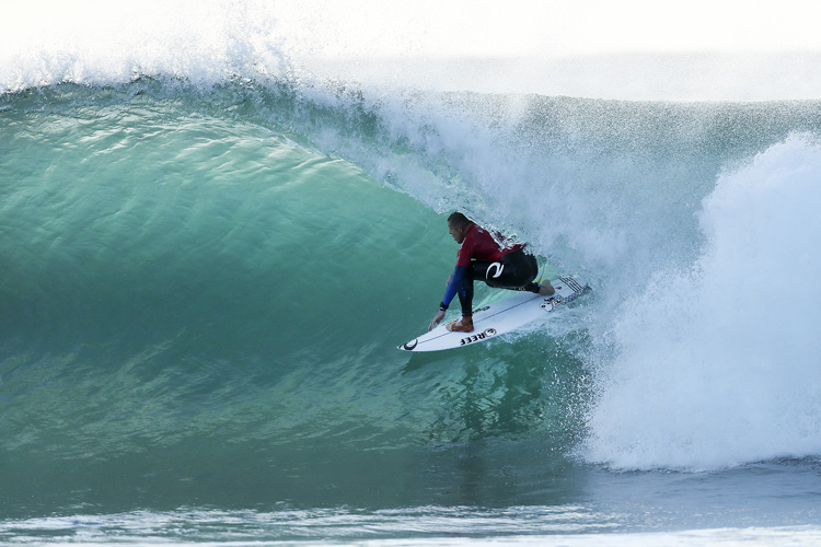 """Mick Fanning: fired up at Jeffreys Bay 