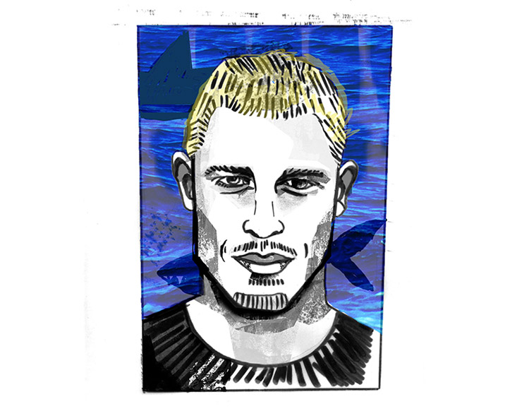 Mick Fanning: surf art by Yago