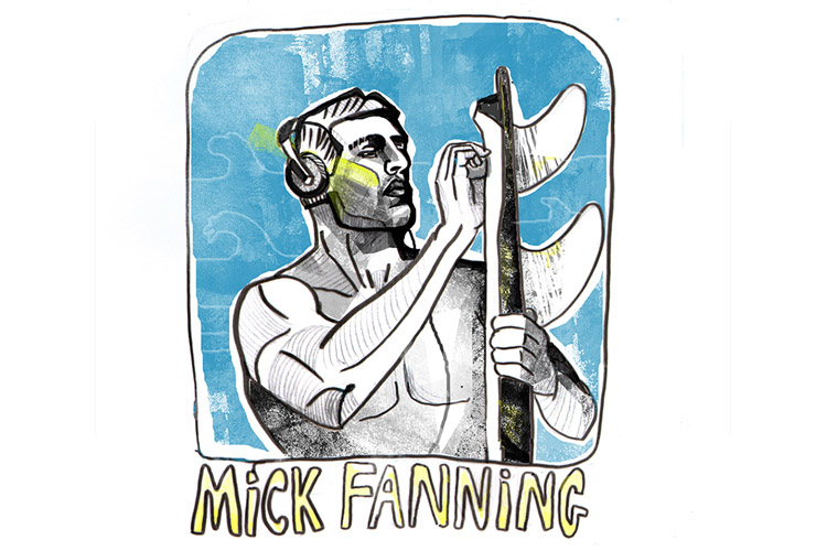 Mick Fanning: an illustration by Yago