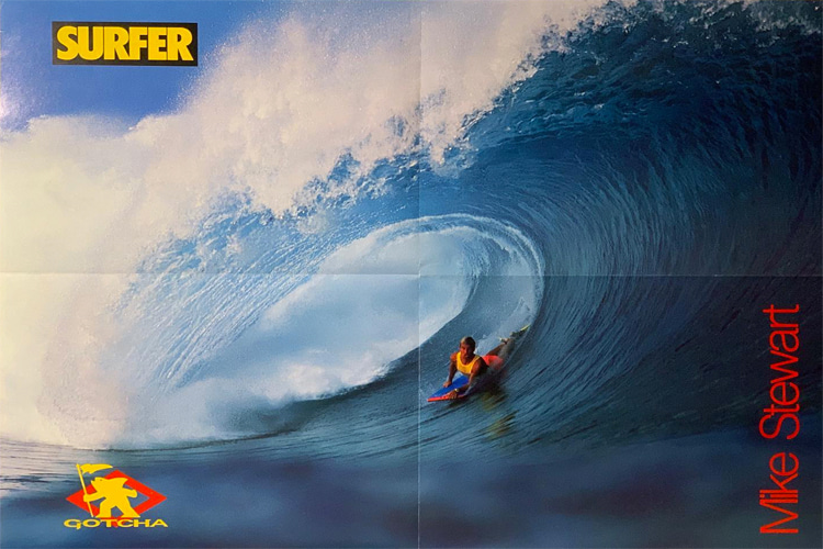 Mike Stewart: this poster infuriated Surfer Magazine readers