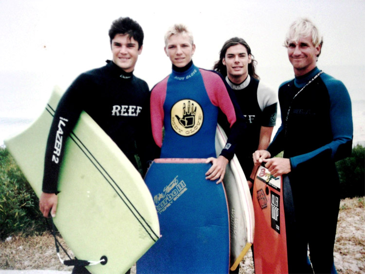 Mike Stewart: ready to surf Supertubes, in South Africa, around 1993 | Photo: Mike Stewart Archive