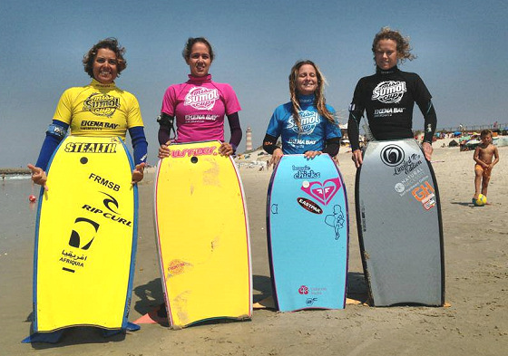 2013 Miss Sumol Cup finalists: Fatima Zahara, Olga Cutillas, Catarina Sousa and Emma Cobb