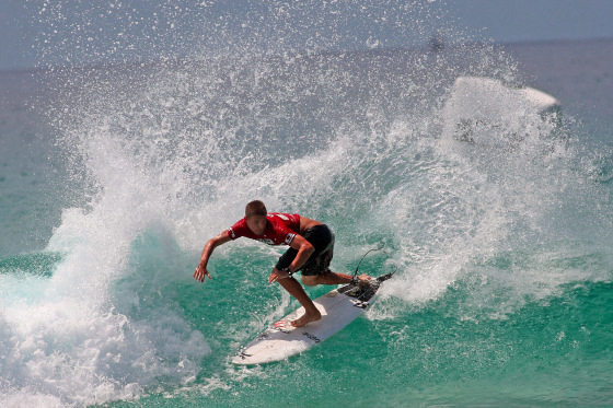 Mitch Crews at the 2010 Oakley Pro Junior in Australia
