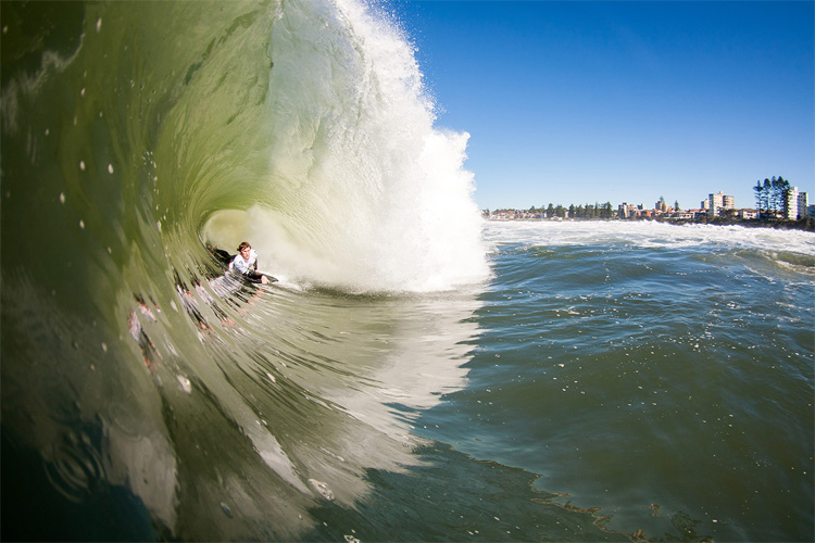 Mitch Rawlins: always deeper and faster than any other bodyboarder | Photo: Venn/Surfing Australia