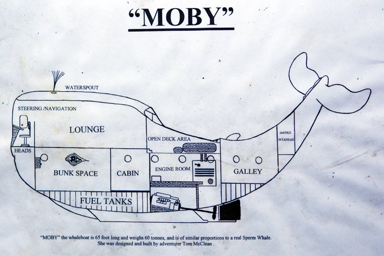 Moby: the map of the 62-tonne whale-shaped vessel