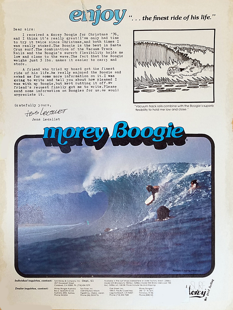 Morey Boogie: magazine ads reached the hardcore of the sport | Ad: Libuse Archive