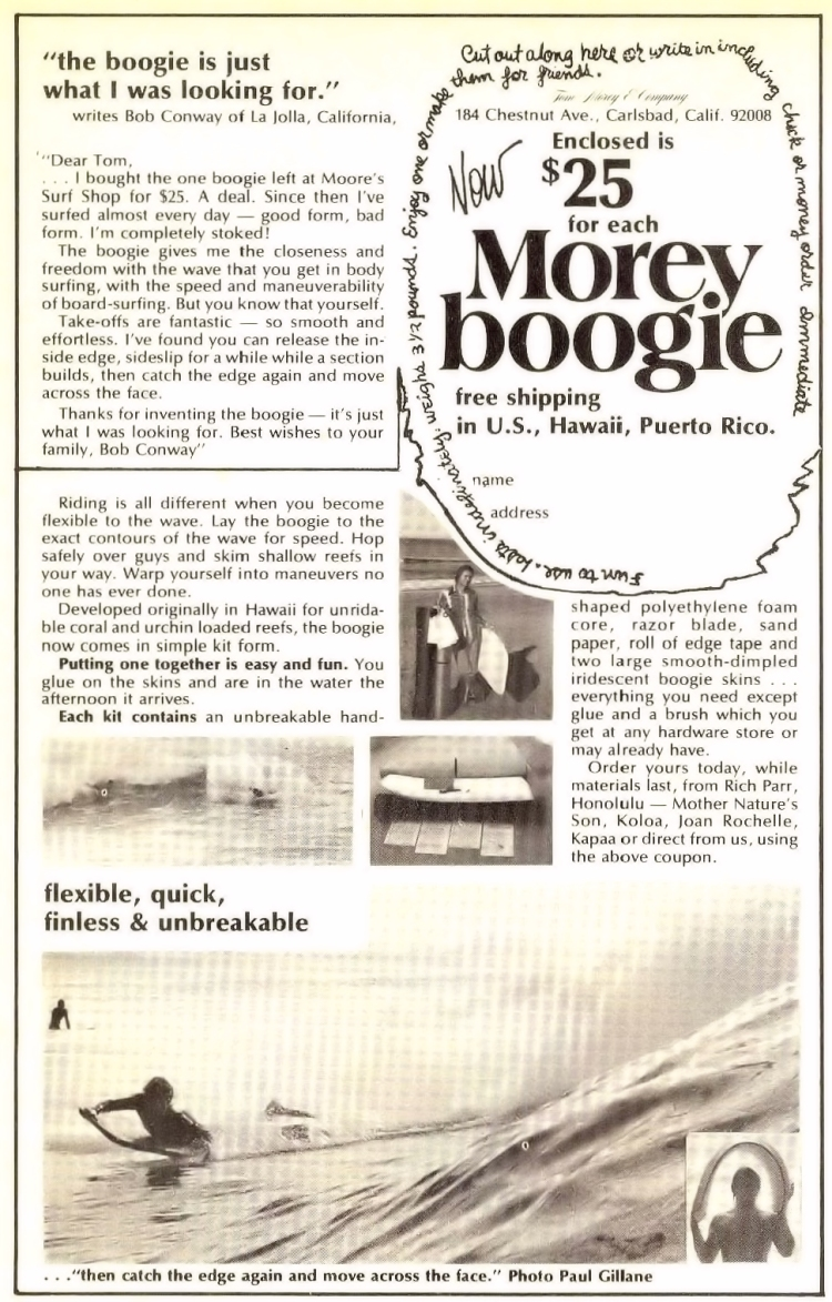 The $25 Morey Boogie Kit: the ad from the late 1970s