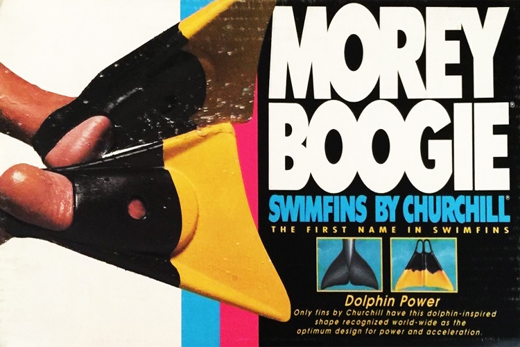 Morey Boogie: this time partnering with Churchill swim fins