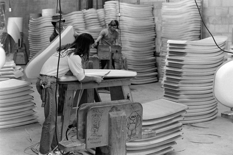 Morey Boogie: this is how the Carlsbad factory looked like back in the mid-1970s | Photo: Craig Libuse