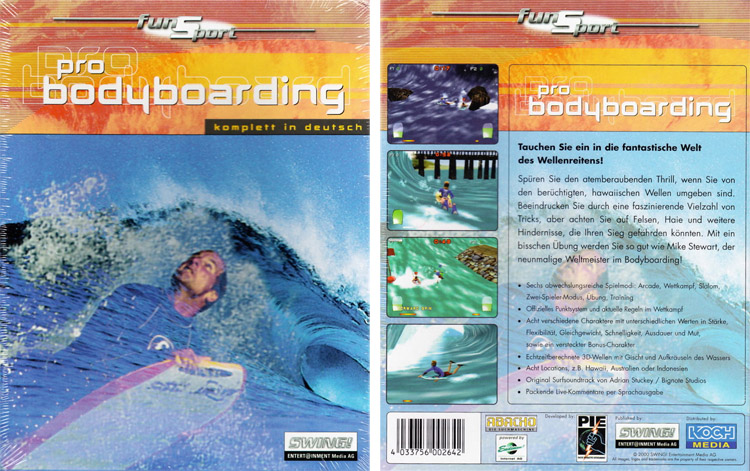 Mike Stewart's Pro Bodyboarding: the Windows computer game released in 1999