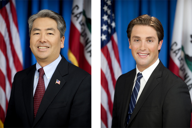 Al Muratsuchi and Ian Calderon: they want California to adopt surfing as its official state sport