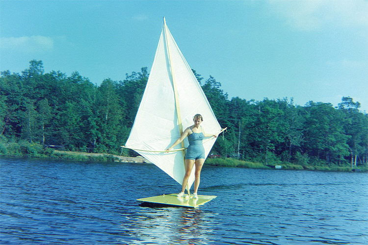 Naomi Albrecht: she tested the original sailboard in a Wyoming Mountain lake in 1964