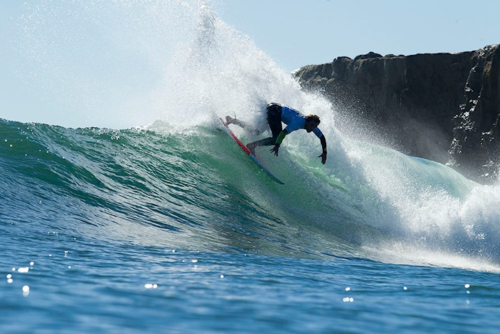 Nathan Yeomans: attacking Steamer Lane | Photo: O'Neill CWC/Ellis