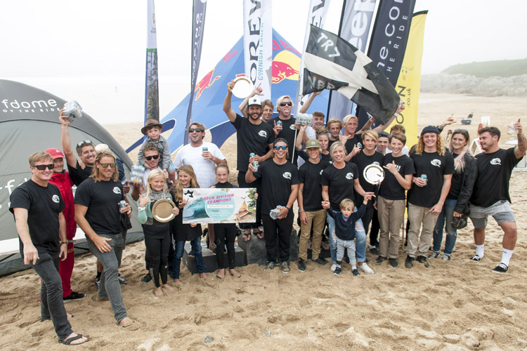 Newquay Boardriders: winners of the 2017 Korev English Interclub Surf Championships | Photo: Surfing England