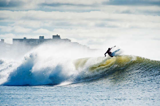 Surfing in Long Beach, NY