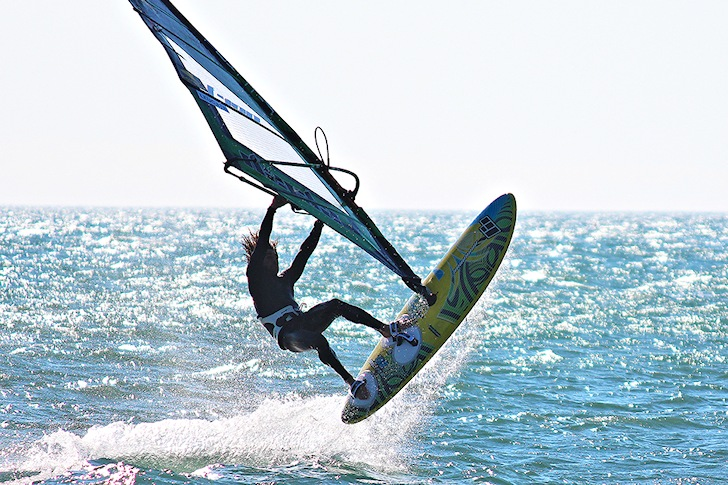Nicolas Akgazciyan: testing his 99th windsurf board