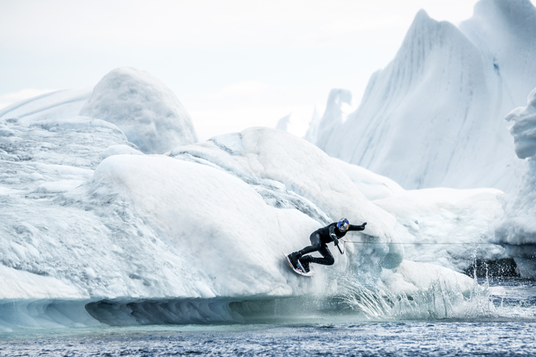 Nikita Martyanov: the Russian wakeboarder takes on Greenland | Photo: Shakuto/Red Bull