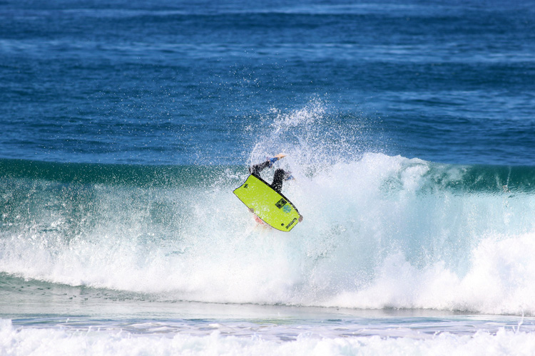 Noah Symmans: two trophies at the 2015 Australian Bodyboard Titles | Photo: Smith/ASF