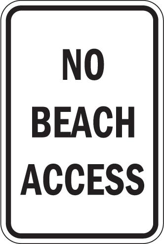 No Beach Access
