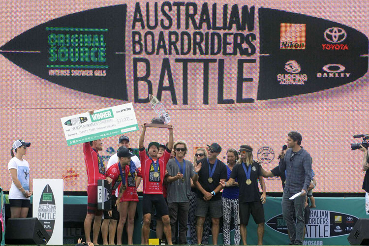 North Narrabeen Boardriders: winners of the Australian Boardriders Battle Series III | Photo: Surfing Australia