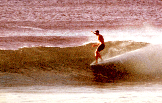 Noseriding: Tom Morey, Honolua Bay, in 1966