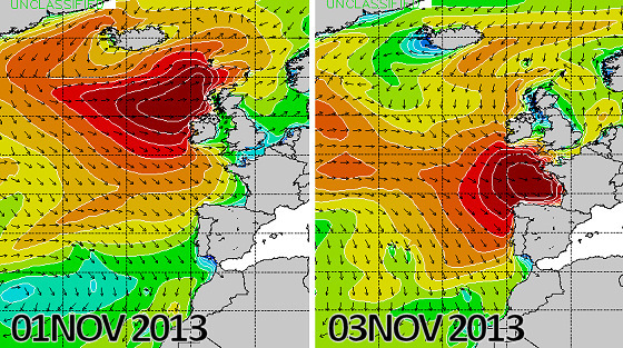 Wave Height Forecast: Portugal, Ireland, Spain and France eye giant swell