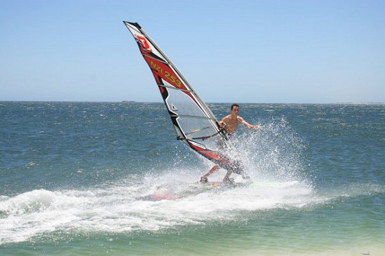 Freestyle windsurfing: some say it's easy