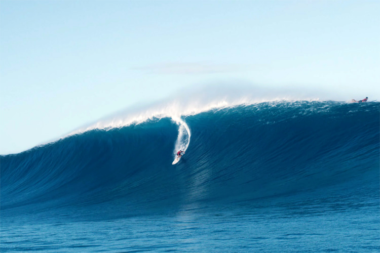 Oahu's outer reefs: January 16, 2021, delivered perfect, clean and massive waves like this