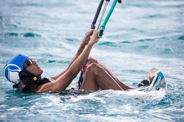 Barack Obama: ready to launch his kite near Branson's private Necker Island | Photo: Brockway/Virgin