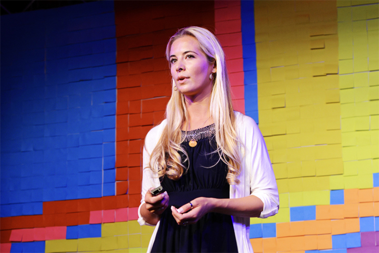 Ocean Ramsey: delivering a TED Talk in Austria in 2015