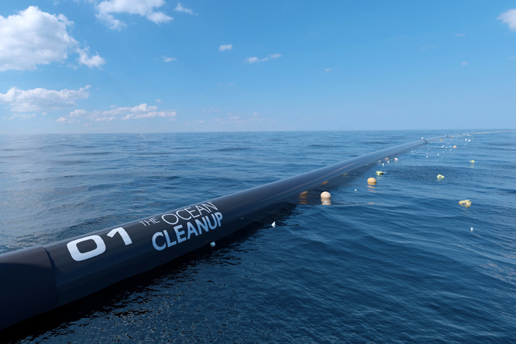 Ocean Cleanup: there will be 50 one-to-two-kilometer floating screens collecting plastics from the Pacific Ocean | Photo: The Ocean Cleanup